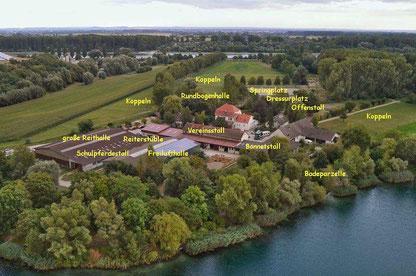 Luftbild Anlage Reitclub Speyer mit Beschriftung