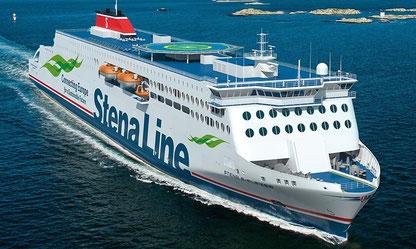 Vue d'artiste d'un navire de la E-Flexer class de Stena Line, le troisième de ces navires devant être construit pour Brittany Ferries