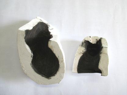 乾漆の猫1 下地