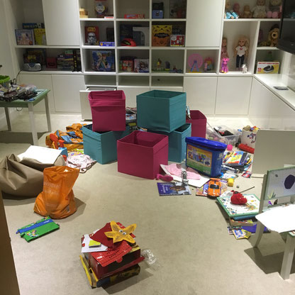 Declutter, Boxes, Toys, Kids Playroom, Children's Playroom, Mess, Untidy, St Albans, Hertfordshire
