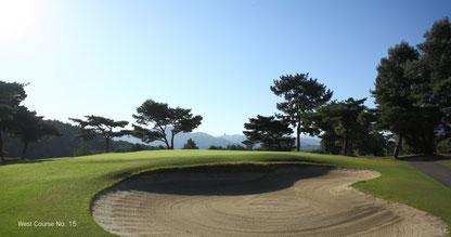 ラウンドレッスン in 軽井沢72ゴルフ 西コース風景
