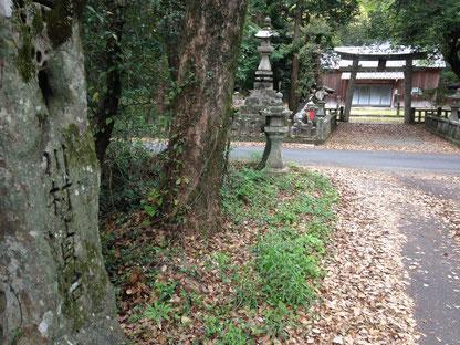 野根八幡宮 (川村貞治の奉納石)