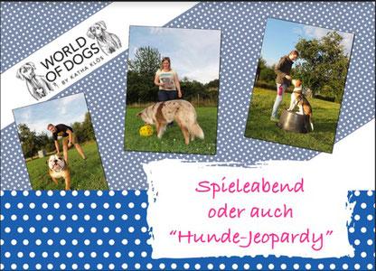 Hundeschule, Butzbach, Hund, Training, Sommer, Spieleabend, Jeopardy, Fun-Dog, Hundetraining