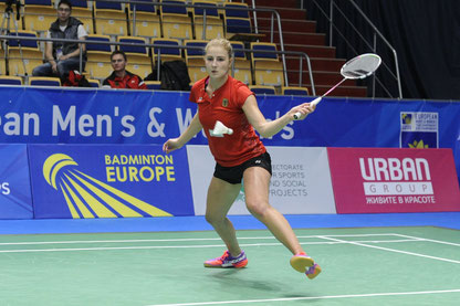 Fabienne Deprez gewann das Auftaktmatch gegen Frankreich in drei Sätzen.  Foto: Claudia Pauli