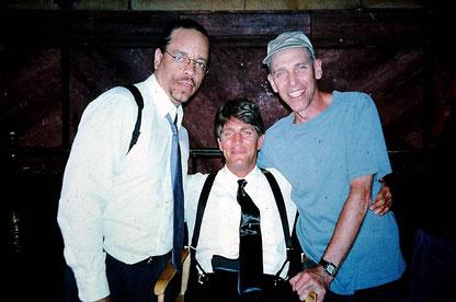 ©Sam Firstenberg, mit Eric Roberts und Ice T am Set von The Alternate (Todeskommando Weißes Haus)