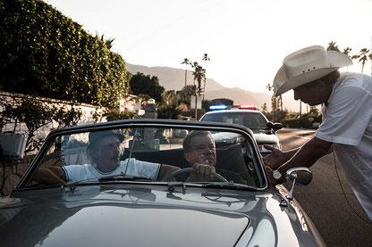 Giorgio Serafini mit William Shatner und Christopher Lloyd