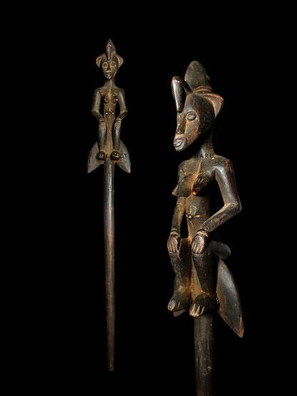 Senoufo Senufo Jumbol ceremonial stick Tugubele