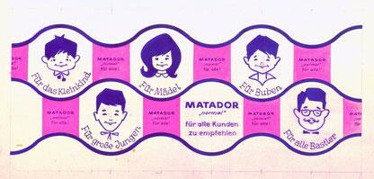 Alte Matador Werbung 1970.