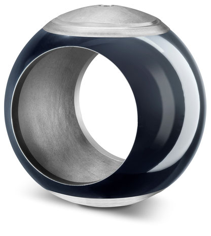 Ventilkugel mit HVOF-Beschichtung: Das Hochgeschwindigkeits-Flammspritzen ermöglicht beständige Oberflächen mit geringer Porosität.