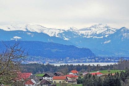 Weißensberger Kapelle - Blick auf den Bodensee und die Alpen