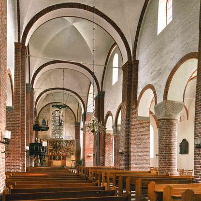 Innenansicht der St. Marien-Kirche in Bad Segeberg