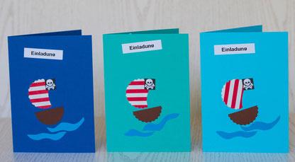 Einladungskarte zur Piratenparty