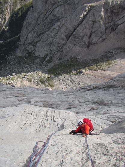 Sl5; die Messnerplatte der Marmolada. 6+