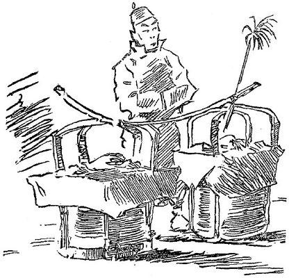 Marchand. Jean Bouchot (1886-1932) : Scènes de la vie des hutungs. Croquis des mœurs pékinoises