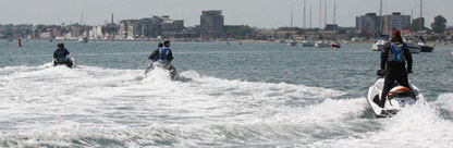 Transiting with a group of jet skis