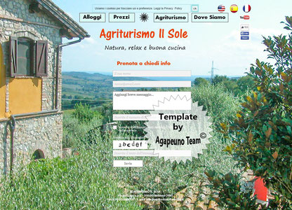 template sito Agriturismo