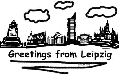 Grüße aus Leipzig Leipzigskyline