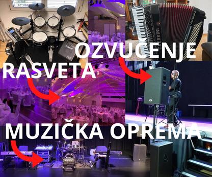 iznajmljivanje muzičke opreme ozvučenja i rasvete u Švajcarskoj