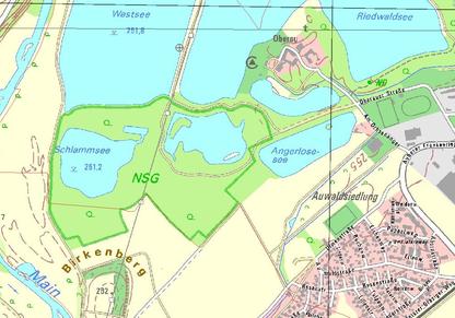 Naturschutzgebiet Oberau (Karte: Bayerisches Landesamt für Umwelt (LfU)