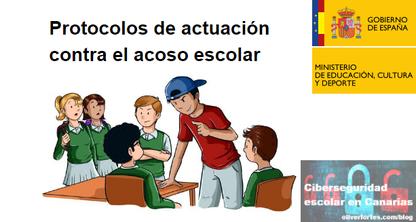 Protocolos actuacion contra el acoso escolar Ministerio Educacion