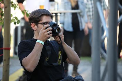 Emanuel Wallmann beim Fotografieren