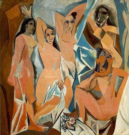 Les demoiselles d'Avignon, Pablo Picasso.
