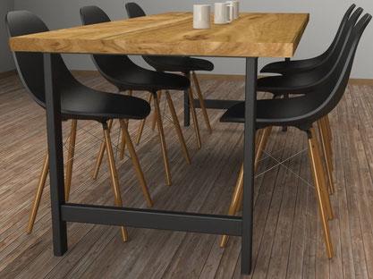 Pied de table multiusage pour l'habitat intérieur