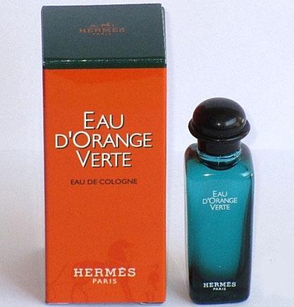 HERMES - EAU D'ORANGE VERTE : EAU DE COLOGNE : 1ère PRESENTATION DES MINIATURES
