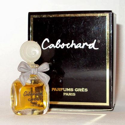 CABOCHARD - MINIATURE PARFUM 1,8 ML - NOEUD EN PLASTIQUE GRIS