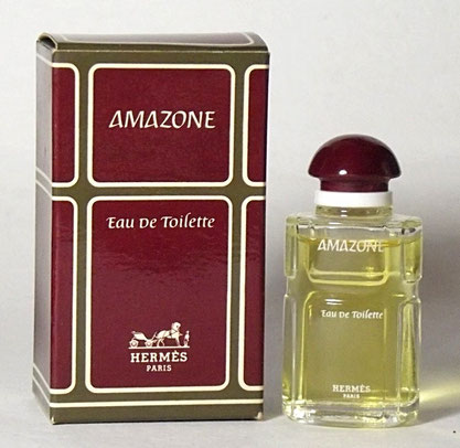 AMAZONE - EAU DE TOILETTE 7 ML - FLACON EN VERRE TRANSPARENT : MINIATURE IDENTIQUE A LA PRECEDENTE PHOTO