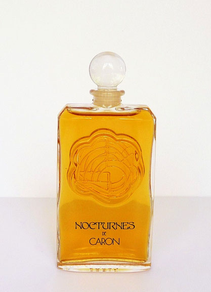 1981 : NOCTURNES - PARFUM DE TOILETTE 50 ML - BOUCHON BOULE EN VERRE - FLACON DESSINE PAR PIERRE DINAND