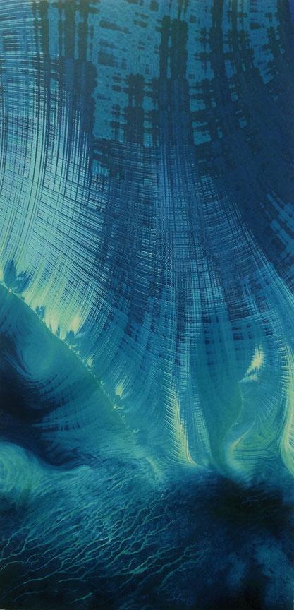 Tecnica mista: digitale, olio e pastello su cartoncino - cm. 22x45