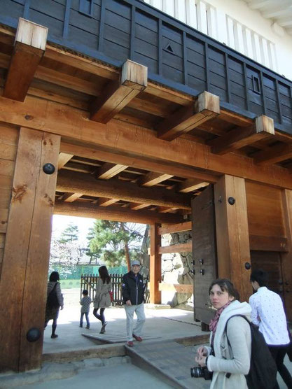 la porte intérieure (yagura-mon) du masugata du Taikō-Mon