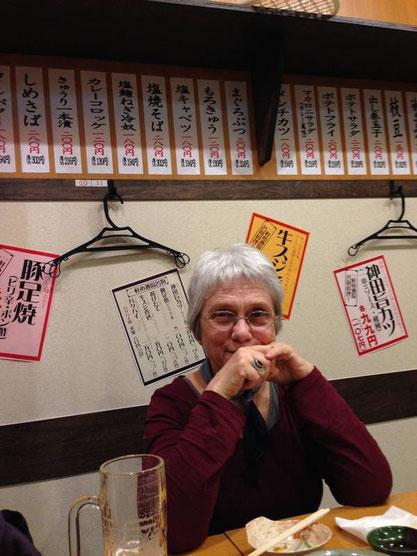 Dans un izakaya en sous-sol (Hiroshima)
