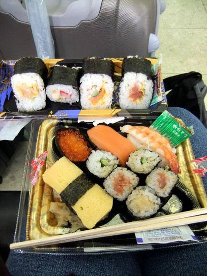 Ekiben de sushis de Shin-Kobe