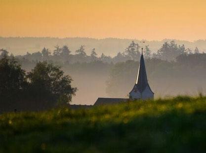 Kirche Wigoltingen, vom Napoleonturm aus gesehne (Foto: B. Lenzin)