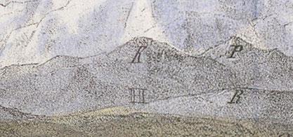 der Kronberg auf der historischen Lithographie ...