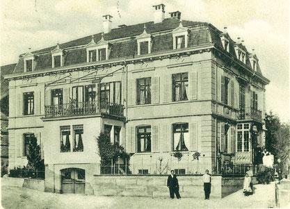 das Friedheim auf einer Postkarte; ca. 1901