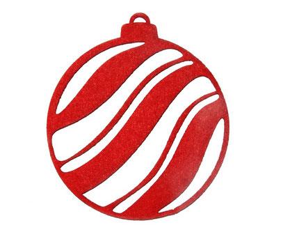 Boule de noel en feutrine d co de no l fabriquer en id es amusantes fabrication de boule de for Boule laser noel