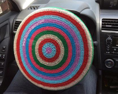 Cómo tejer un cobertor decorativo para timón de auto a crochet