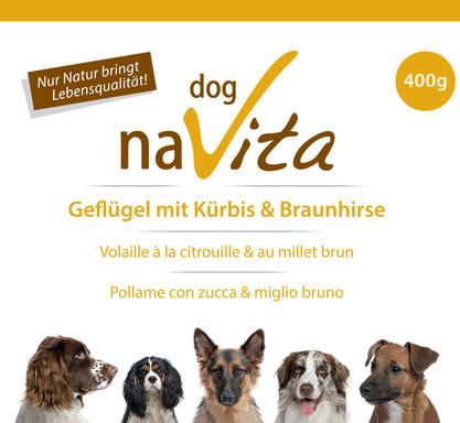 naVita Geflügel mit Kürbbis & Braunhirse Fleischmenü