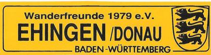 Aufkleber der Wanderfreunde Ehingen/Donau 1979 e.V.