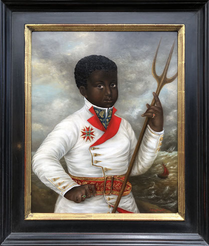 """Fatima Ronquillo, """"The Tempest,"""" 2018, oil on panel, 20 x 16 inches, $13,600"""