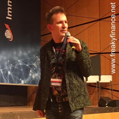 freaky finance, Immopreneur Kongress 2017, Hauptbühne, Darmstadtium, Gerald Hörhan auf der Bühne