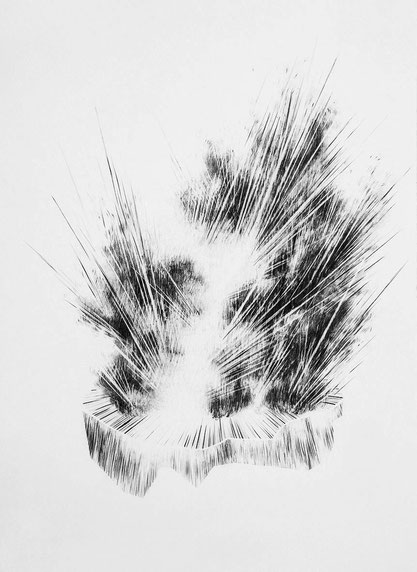 Sans Titre, Mine de plomb sur papier, 50x40 cm, 2018