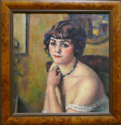 Charles Guérin (1875-1939) : visage d'une jeune femme