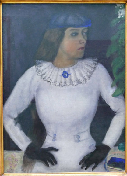M. Chagall : ma fiancée aux gants noirs, 1909
