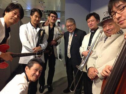 上田札幌市長とThe Sapporo Funk Organizaition
