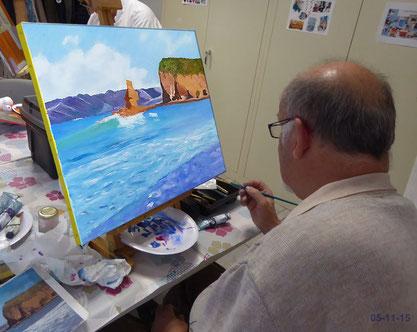 Peinture artistique au Club le 05 novembre 2015