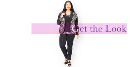 flippige Mode für mollige Frauen, XXL Mode